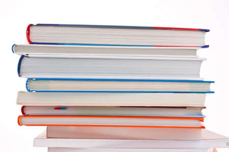 stack of books. isolated and insulated orphaned background Stock Photo