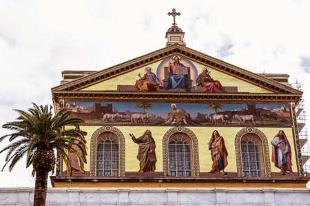substantiate: italy, rome, church of san paolo fuori le mura Stock Photo
