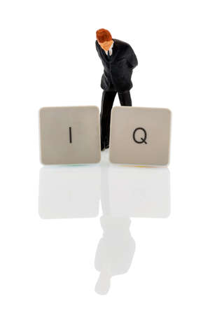 perceptive: the letters iq as a symbol photo for intelligence quotient.