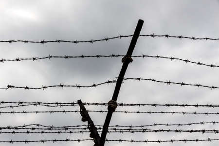 Rusty barbed wire. Symbolic photo for prison photo