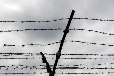 Rusty barbed wire. Symbolic photo for prison photo