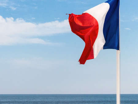 diplomacy: national flag of france, symbolic photo for patriotism, sovereignty, diplomacy