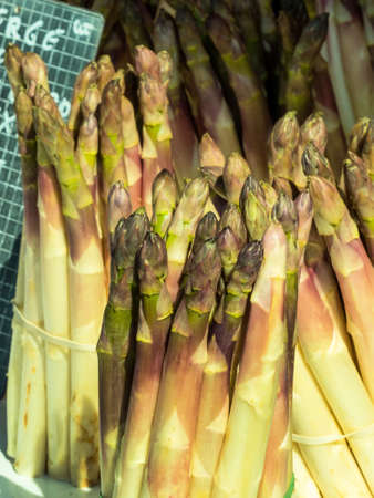 covenant: a fresh covenant with asparagus in a vegetable market