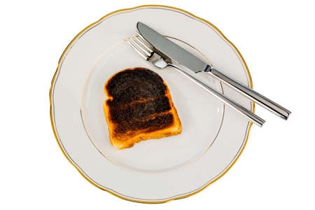 burnt toast: toast was burnt during toasting. burnt toast at breakfast.