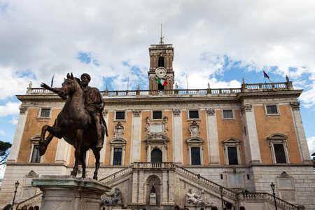 del: italy, rome. rome. piazza del campidoglio. marcus aurelius statue Stock Photo