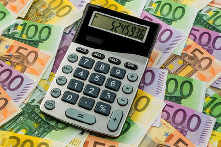 mathematically: stethoscope and euro banknotes. symbolic photo for cost, revenue, taxes