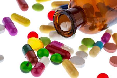 多くのタブレット。常習および医学および医薬品のコストは、写真アイコン。
