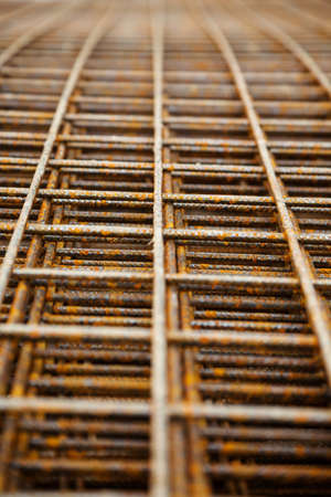 statics: at a construction site are steel mesh to reinforce the bentonplatten Stock Photo