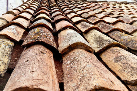 heritage site: the city of dubrovnik in croatia. unesco world heritage site. old roof tiles Stock Photo