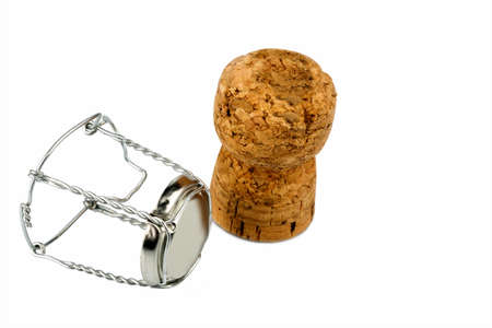 solemnity: clasp and champagne corks photo icon for celebrations, enjoyment and alcohol consumption Stock Photo
