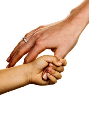 proximity: small and large hand symbolism for trust, protect, security