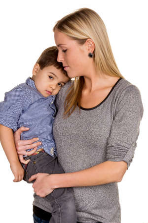 single mother: mother and son symbol of love, care, single mother