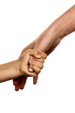 symbolism: small and large hand symbolism for trust, protect, security