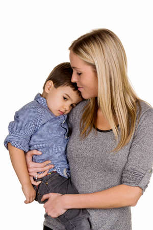 solicitous: mother and son symbol of love, care, single mother