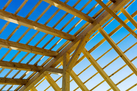 rafter: wooden roof construction