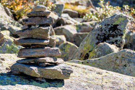 flatly: stacked stones Stock Photo