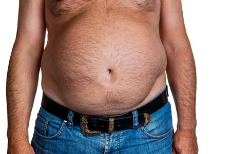constrict: man with overweight.