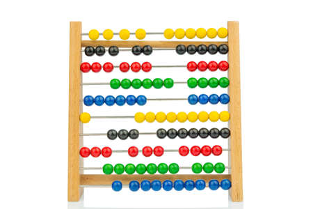 mathematically: abacus with colorful beads Stock Photo