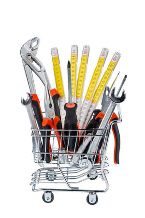 hand tool in a shopping cart photo