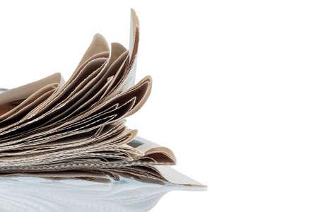 journalistic: varie riviste, foto simbolico per notizie, carta stampata e la diversit� di opinione