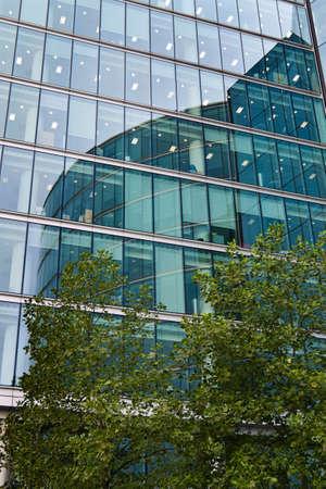 immobilien: the modern facade of an office building london, england