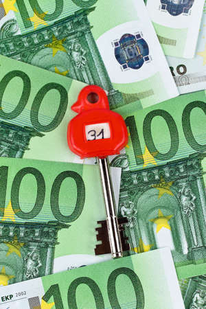 open minded: many euro banknotes in the vault. With a key