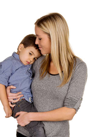 parental love: mother and son symbol of love, care, single mother