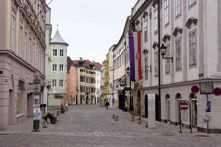 linz: the historic altstand in linz, austria. upper austrian capital