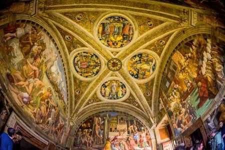 stanza: vatican museum, raphaels rooms. stanza dellincendio do borgo