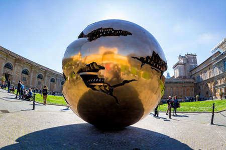 Vatican Museum in Rome Italy Stock Photo