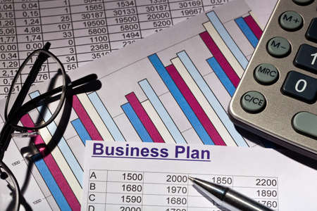 a business plan for starting a business. ideas and strategies to start a business. photo