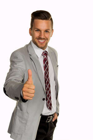 jonge ondernemers: jonge, dynamische zakenman. succesvolle jonge ondernemers Stockfoto