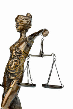 office force: sculpture of justice, symbolic photo for equity and justice Stock Photo