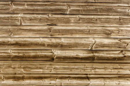 batten: a wooden wall of old boards built. concept photo for background Stock Photo
