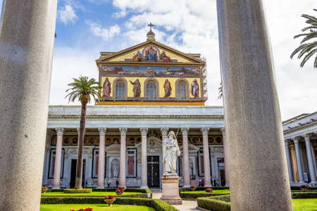 italy, rome, church of san paolo fuori le mura Stock Photo