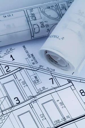 single familiy: un anteproyecto arquitectos para la construcci�n eiones nueva casa. Foto simb�lica para la financiaci�n y la planificaci�n de un nuevo hogar. Foto de archivo