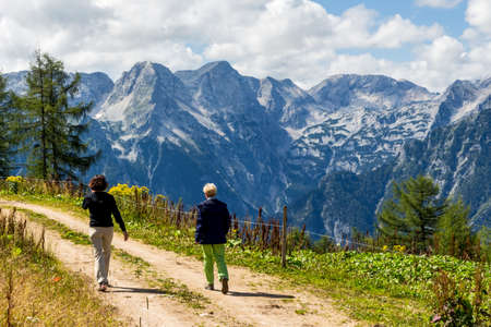 hillwalking: a lovely place to wander the mountains around hinterstoder in upper austria, austria