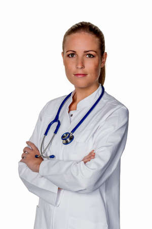 physican: a friendly surgical doctor after successful surgery at the hospital. Stock Photo