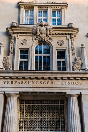 constitutional: the building of the constitutional court in vienna Stock Photo