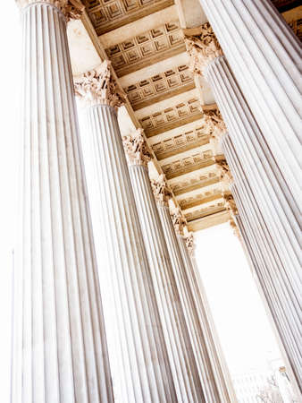 statics: columns at the parliament in vienna, symbolic photo for architecture, stability, history
