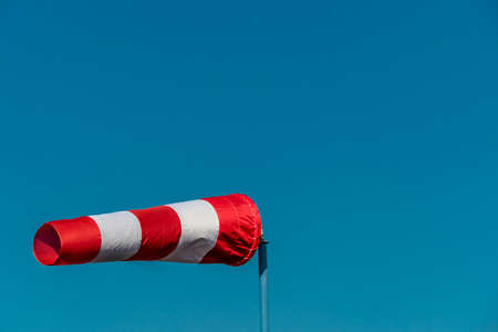 a windsock inflated by the wind. photo icon for power and success photo