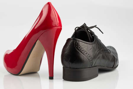 womens shoes and mens shoes, symbolfot for partnership and equality