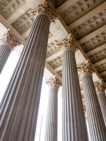 stability: columns at the parliament in vienna, symbolic photo for architecture, stability, history