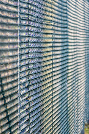 delimit: metal grating structures, symbol of texture, pattern, perspective Stock Photo
