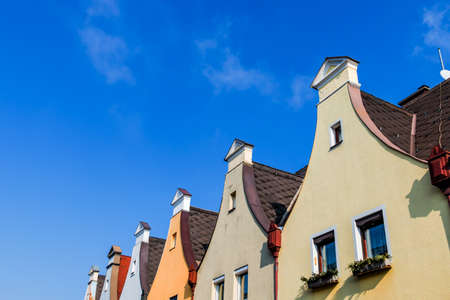 gable home renovation: town houses with traditional gable symbol for living, old, old town