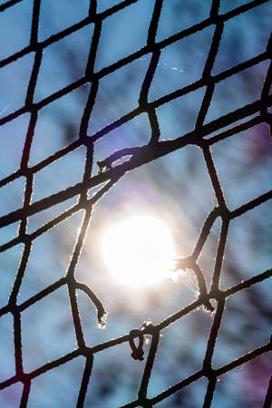 security gap: hole in a network, the symbol of captivity, obstacle, hoping to damage