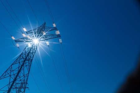 pylon, symbolic photo for energy production, supply and mains Reklamní fotografie