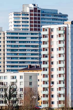 linz: residential buildings in linz, upper austria, austria. in urfahr