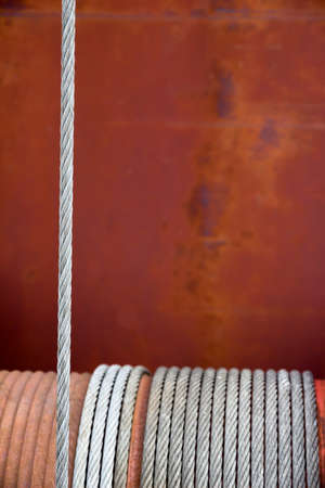 transient: rusty winch, symbol of strength, reliability, help Stock Photo