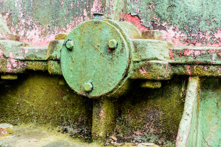 transience: iron with rust traces, symbol of decay, damage, transience Stock Photo